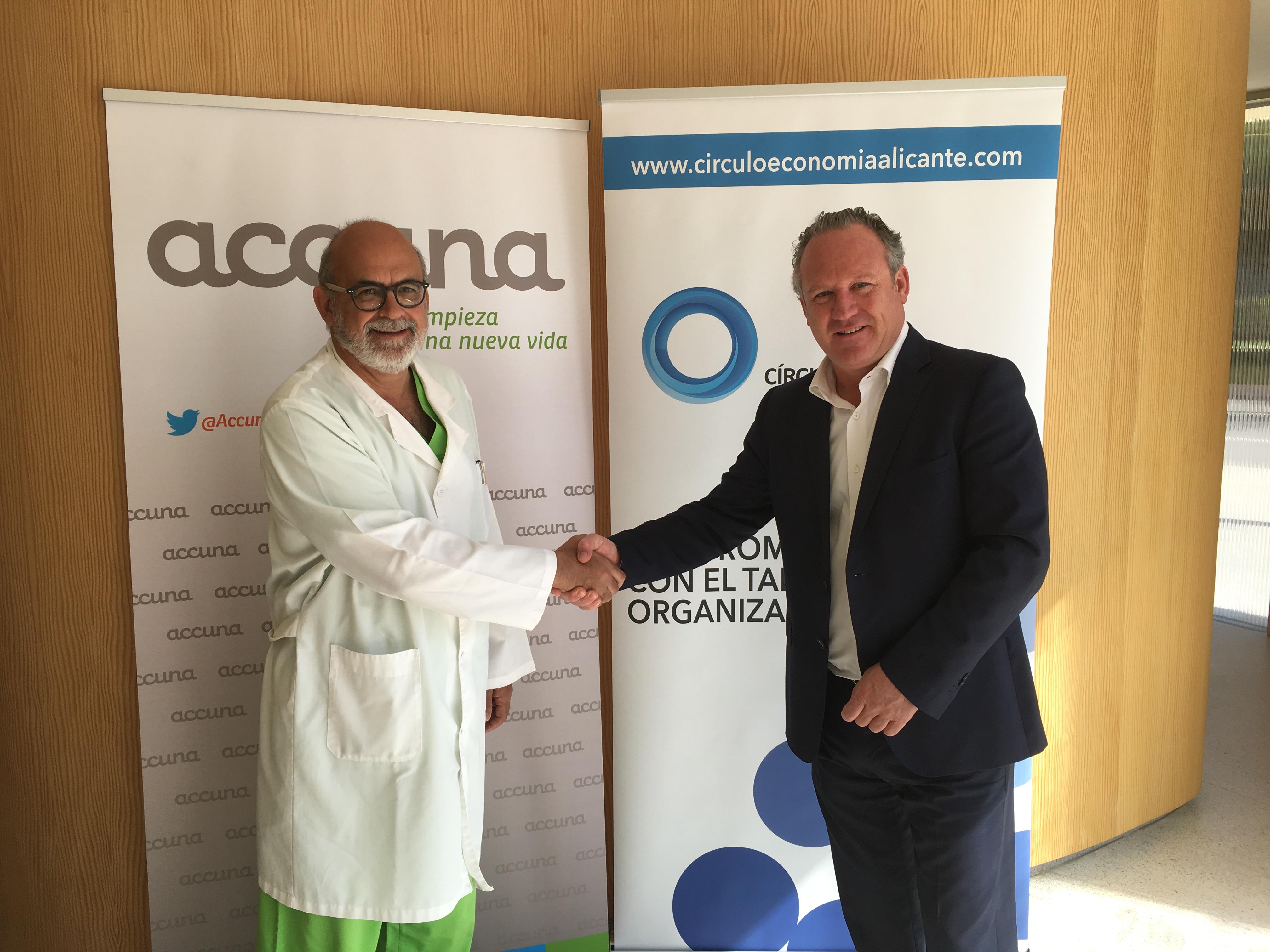 Firma de convenio entre la clínica Accuna y el Círculo de Economía de Alicante